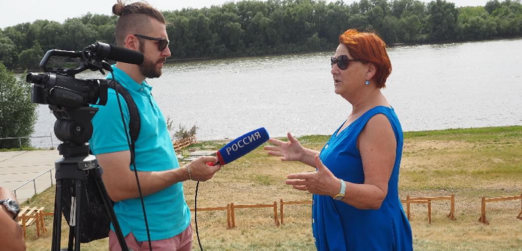 Interview mit dem Omsker Stadtfernsehen